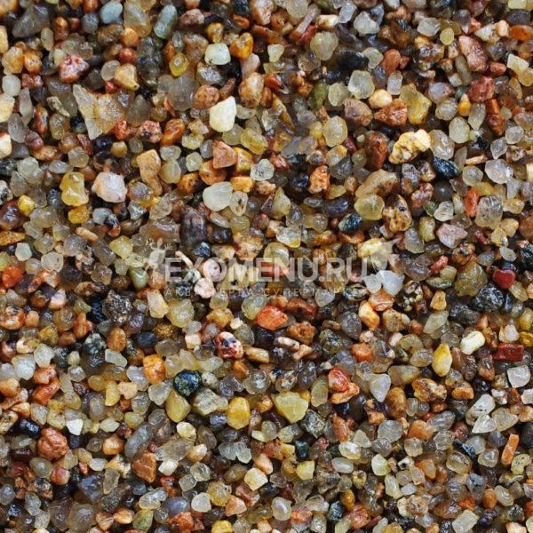 DECOTOP Vuoksa - Природный чистый коричневый гравий,  2-5 мм, 2.3 кг/1.5 л