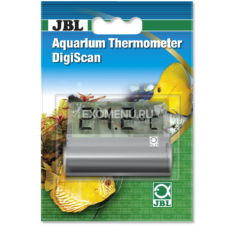 JBL Aquarium Thermometer DigiScan -Цифровой аквариумный термометр