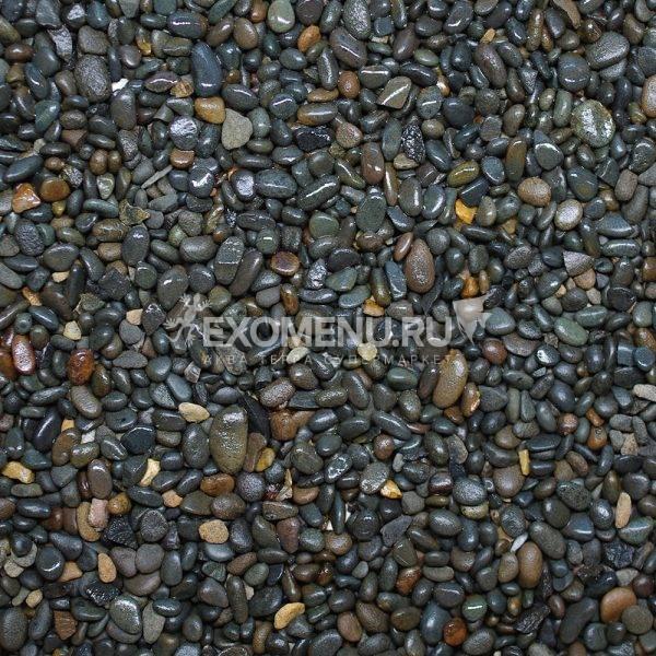 DECOTOP Geneva - Натуральный темный гравий, 2-5 мм, 2.3 кг/1.5 л