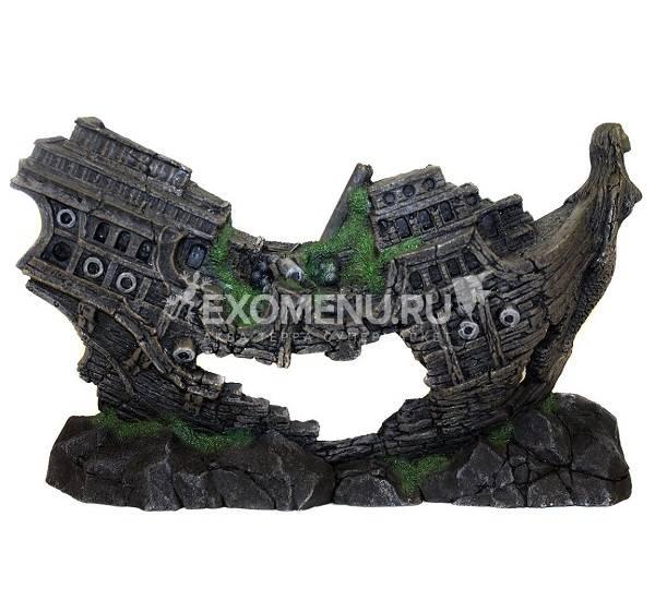 521 Грот Декси - Корабль 40*8*25 см, односторонний декоративный элемент фото