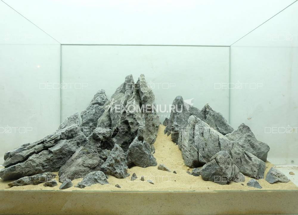 DECOTOP Chogori Box S - Набор камней для аквариумов от 10 литров, 5 кг/4 л