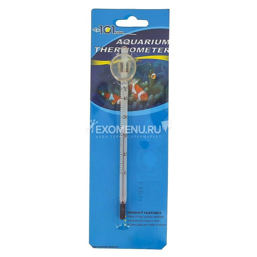 Термометр стеклянный на присоске, тонкий (3109)