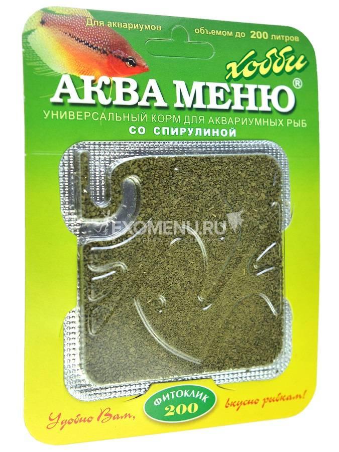 Корм АКВА МЕНЮ ФИТОКЛИК - 200, 6.5 г, со спирулиной (дозатор) фото