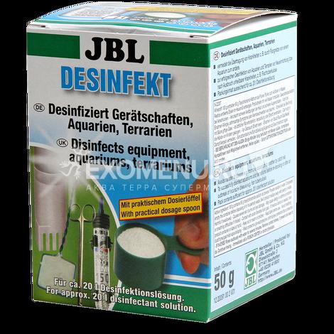 JBL Desinfekt - Дезинфицирующее средство для аквариумов и террариумов, а также аквариумных и террариумных инструментов и аксессуаров, 50 г