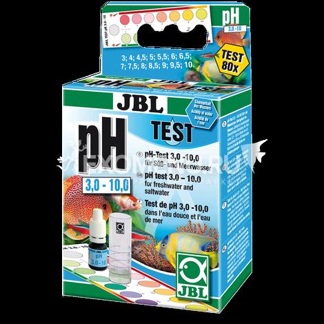 JBL pH Test-Set 3,0-10,0 - Экспресс-тест для контроля значения рН в пресной и морской воде в диапазоне 3-10 единиц, примерно на 80 измерений.