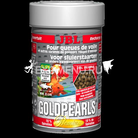 JBL GoldPearls - Основной корм премиум-класса в форме гранул для золотых рыбок, 250 мл (145 г)