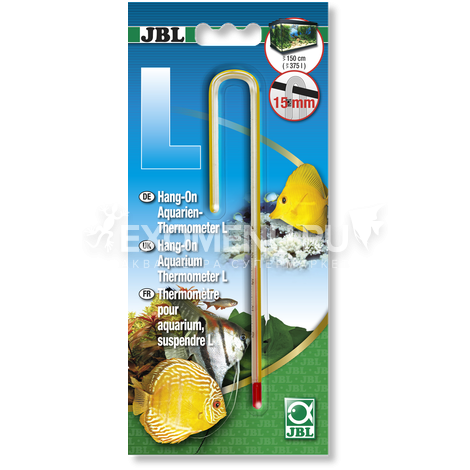 JBL Hang-on Aquarien-Thermometer M - Навесной термометр для аквариумов с толщиной стекла до 10 мм