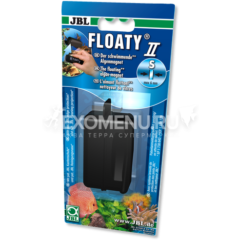 JBL Floaty II S - Плавающий магнитный скребок для чистки аквариумных стекол до 6 мм