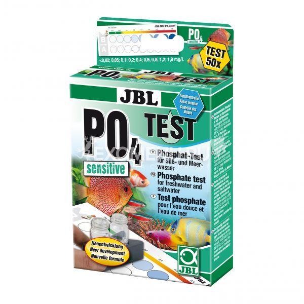 JBL PO4 Phosphate Test sensitive - Экспресс-тест для определения содержания фосфатов в пресной и морской воде, примерно на 50 измерений