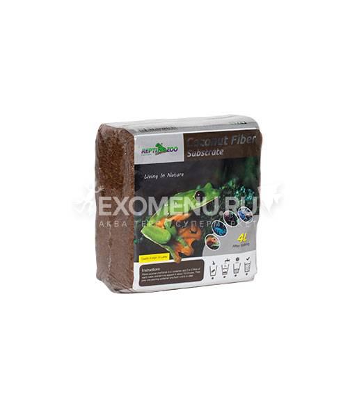 Субстрат кокосовый тропический, 230г/4л, мелкая фракция, Repti-Zoo