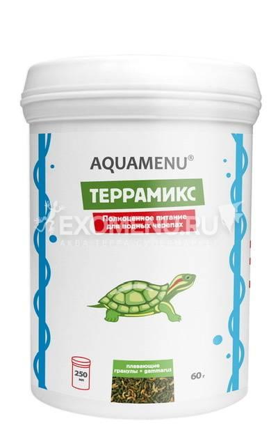 Корм AQUAMENU Террамикс 250 мл, корм