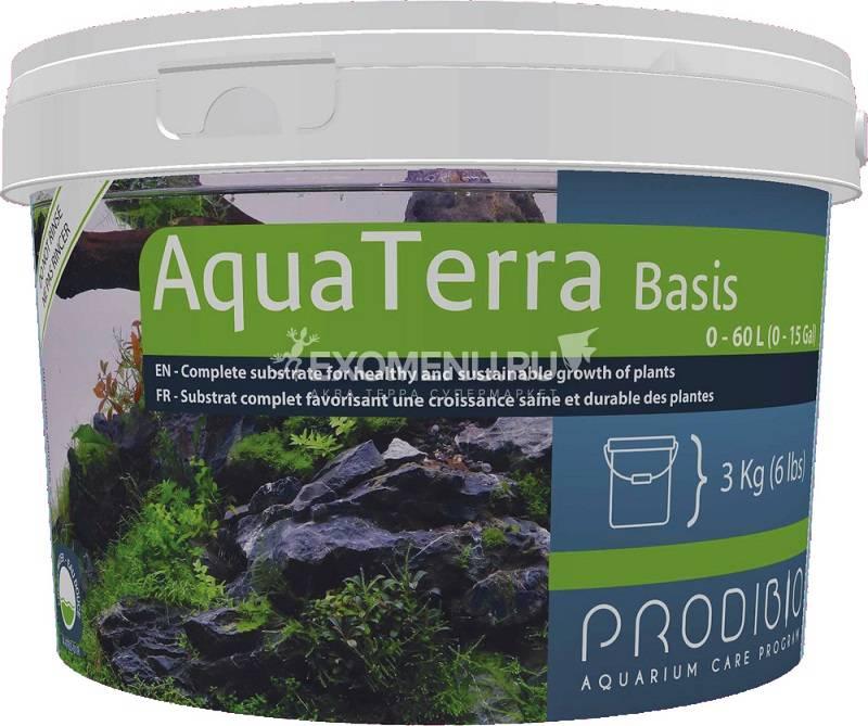 Субстрат комплексный Prodibio AquaTerra Basis, для растений, 3кг