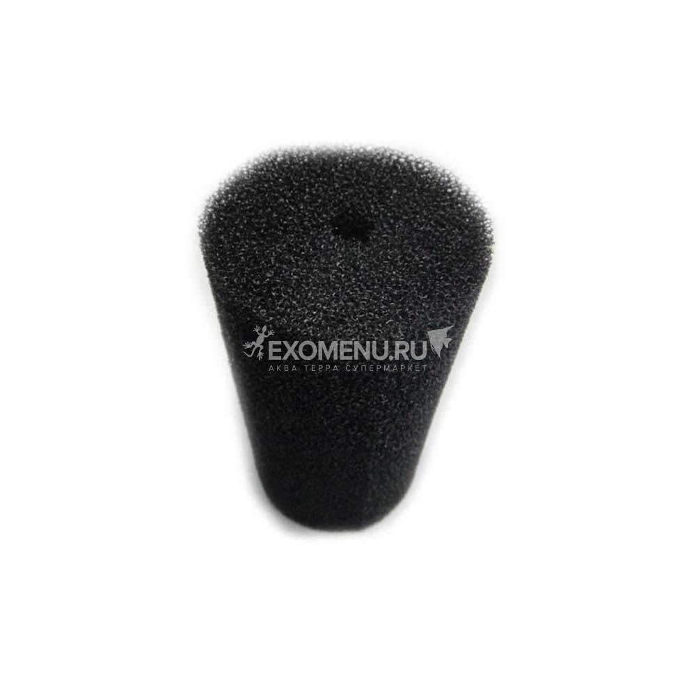 Губка фильтрующая пенополиуритановая 150x80Dмм PPI 30 черная