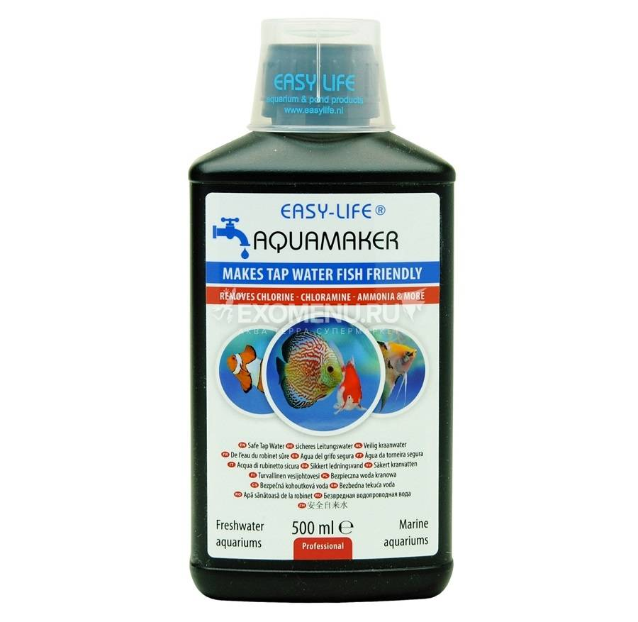 Универсальное средство для очистки воды в аквариуме EASY LIFE - AQUA MAKER 500ML
