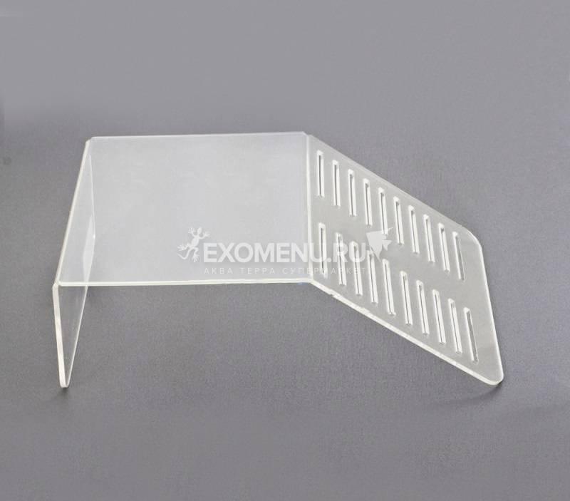 Плотик-бережок для черепашек пластиковый, 25х15,5х8 см (ДхШхВ)