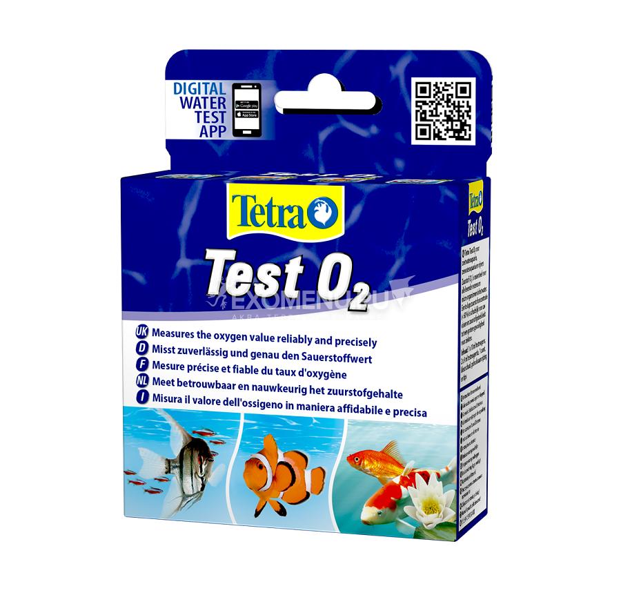Тест воды на Кислород О2 (для пресной/морской воды)  Tetra test Sauerstoff O2 746763