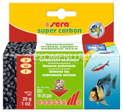 Sera Активированный уголь SUPER CARBON 29 г