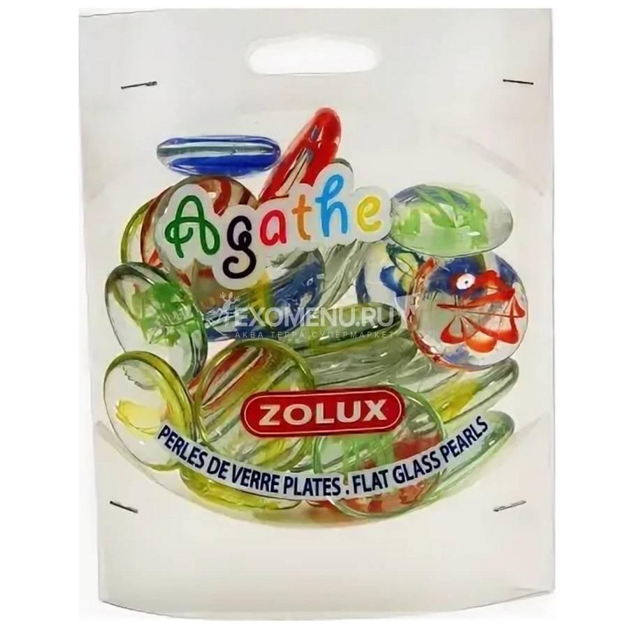 Украшения для аквариума стеклянные Агат L (мульти цвет) ZOLUX 430 г.