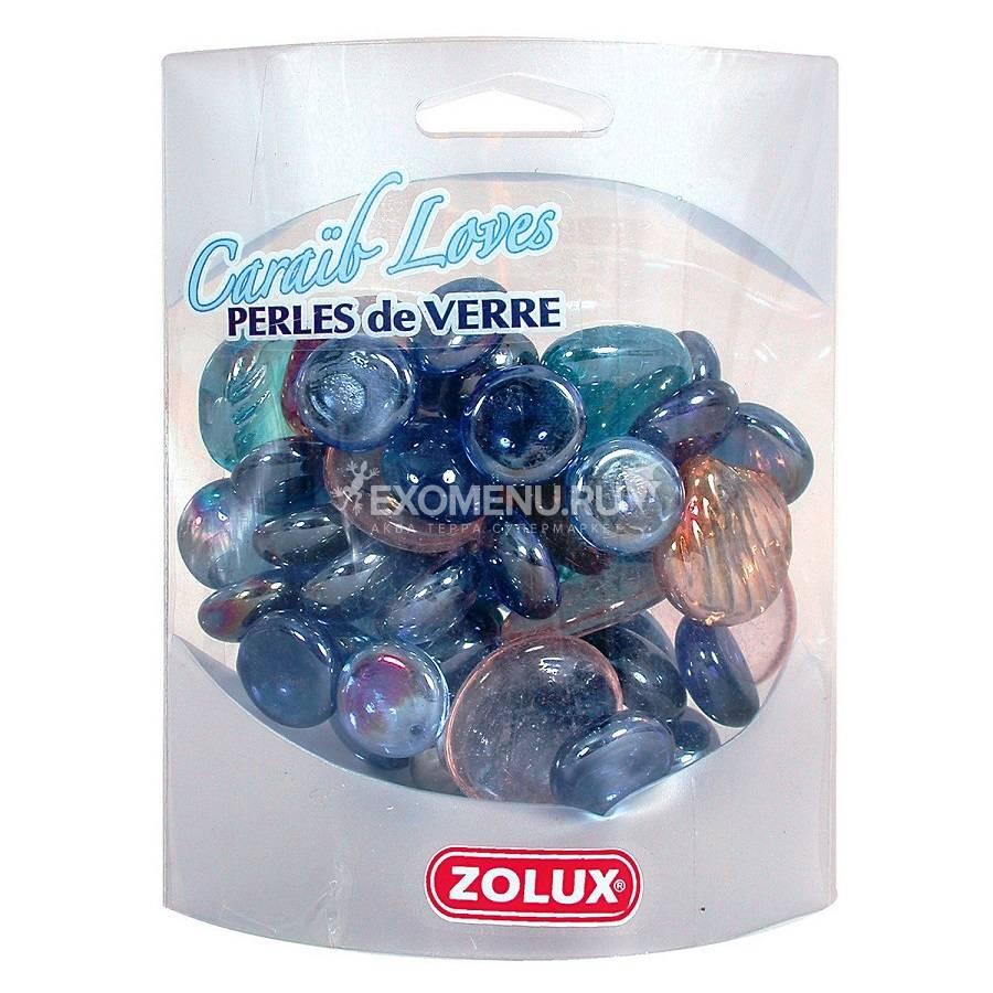 Украшения для аквариума стеклянные Карибская любовь (фиолетовый микс) ZOLUX 430 г.