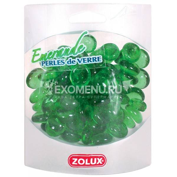 Украшения для аквариума стеклянные Изумруд (зеленый) ZOLUX 400 г.