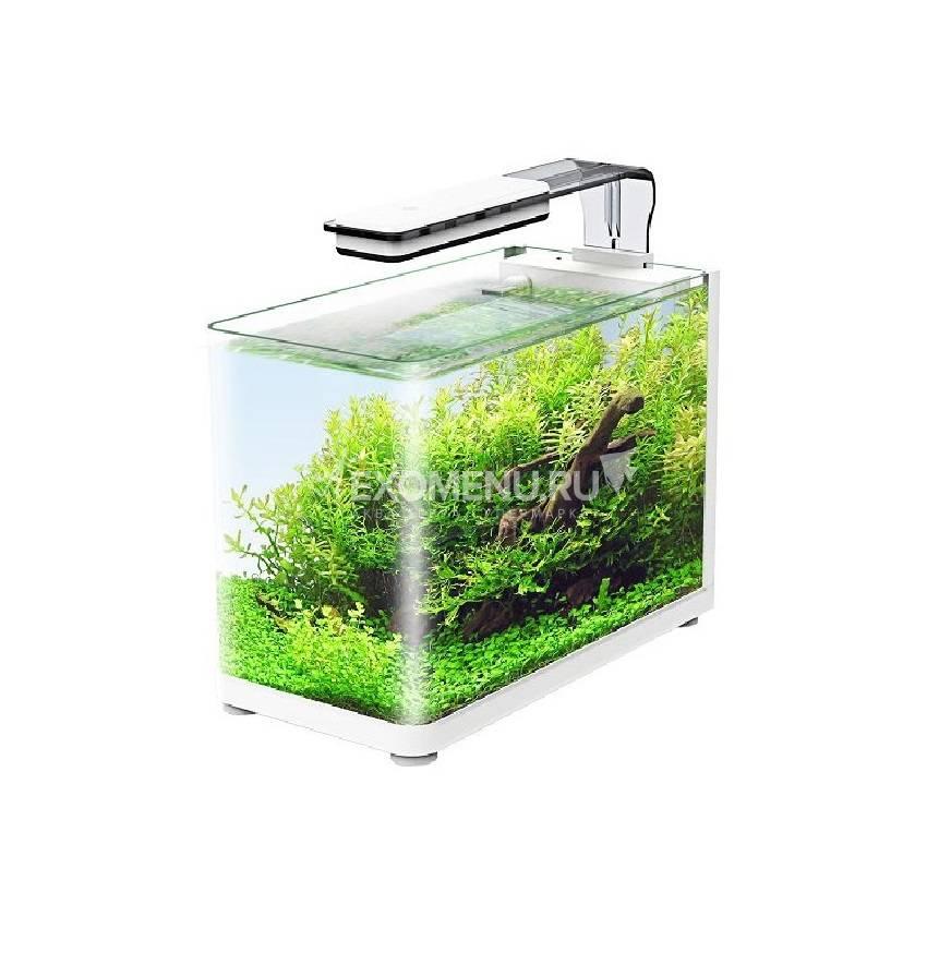 Аквариум Atman RGT-35 белый, 13 литров, 35,4х18,4х26 см (в комплекте внутренний фильтр, LED светильник, покровное стекло)