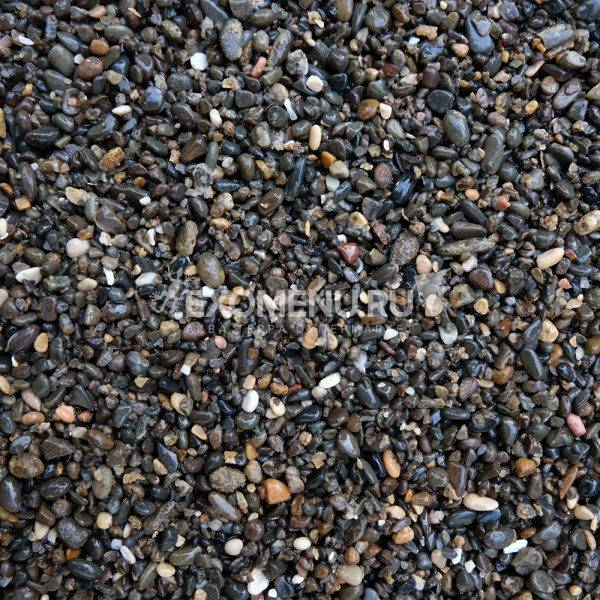 DECOTOP Yukon - Натуральный темный гравий, 2-10 мм, 15 кг/9 л