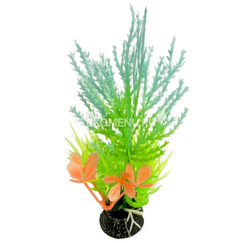 Композиция из светящихся растений, бирюзовая, 120мм