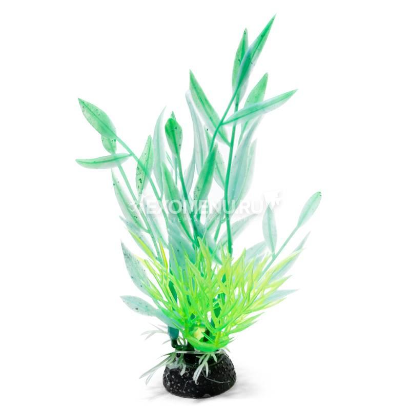 Композиция из светящихся растений, зеленая, 120мм