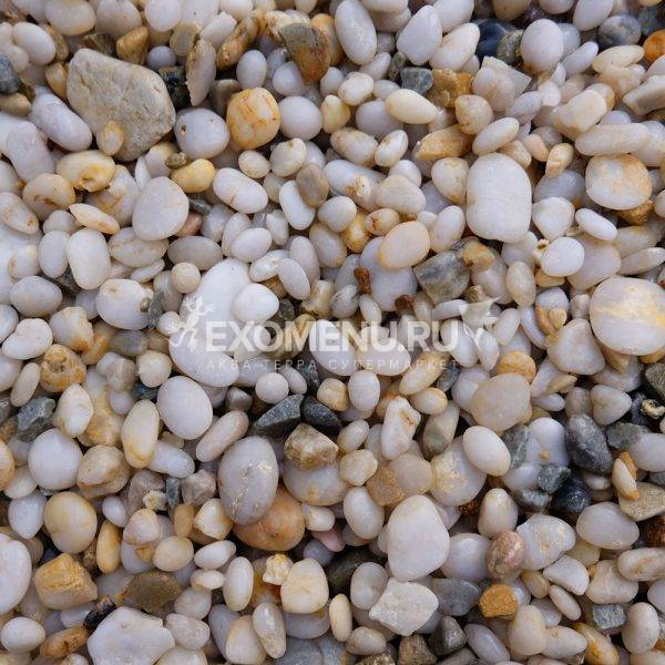 DECOTOP Zambezi - Натуральный светлый гравий, 2-10 мм, 15 кг/9 л