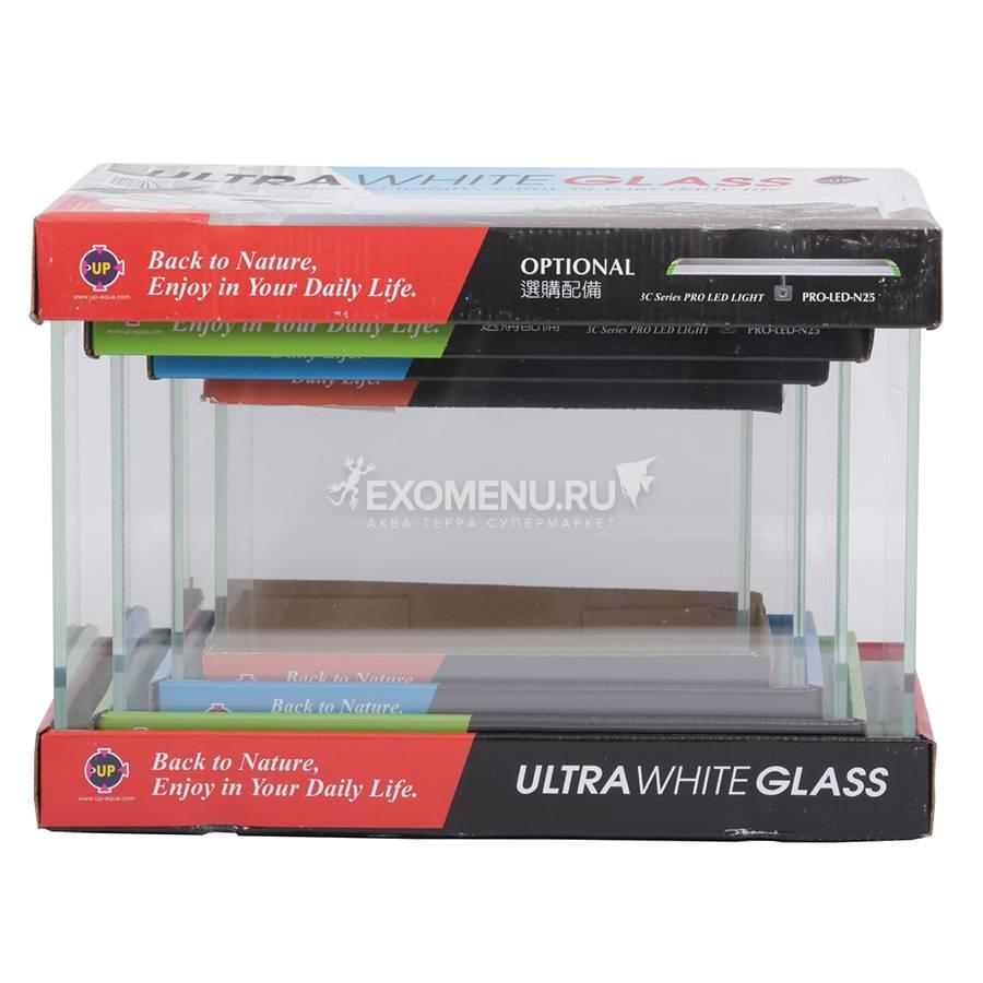 UpAqua Crystal Glass Tank 4in1 S Набор аквариумов Ultra White 4в1, малый (6/9/13/20 литров)