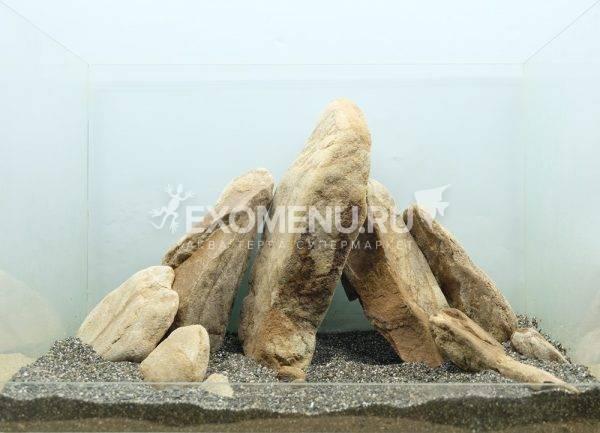 DECOTOP Sinai M - Натуральный камень для оформления аквариумов и террариумов, 1-2 кг / 15-25 см