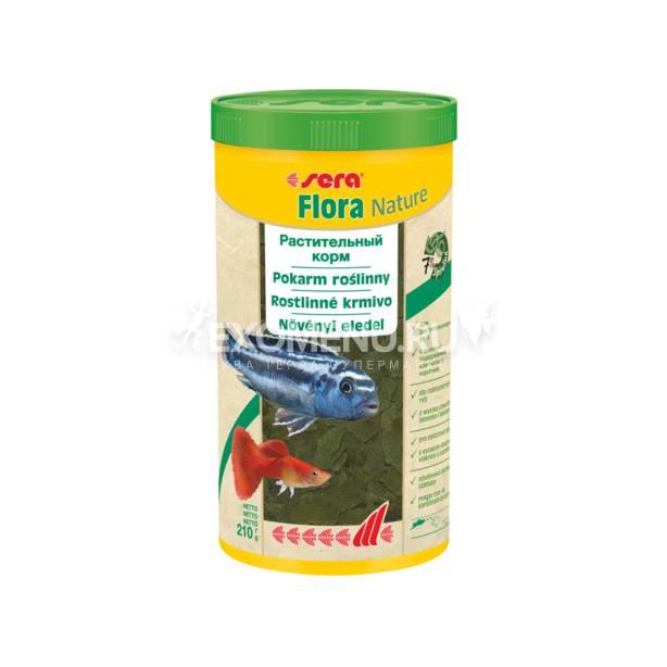 Корм для рыб растительный в хлопьях SERA FLORA NATURE 1000 мл 210 г