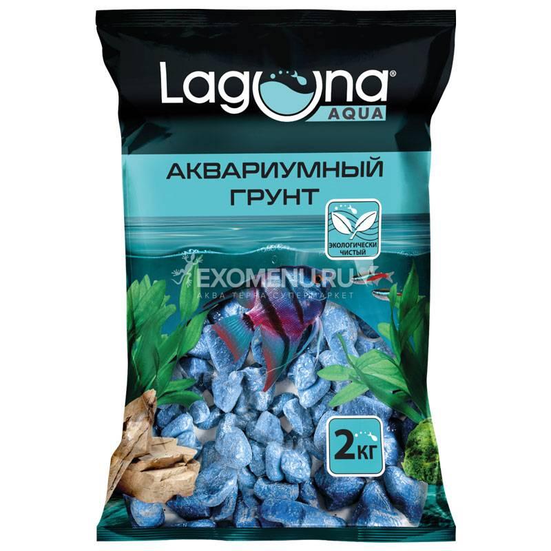 Галька речная синяя, 2кг, 20-30мм, Laguna
