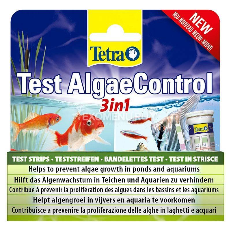 Тест Tetra Test AlgaeControl 3in1, 25 экспресс-полосок, для измерения параметров, ведущих к росту водорослей (PO4, NO3, KH)
