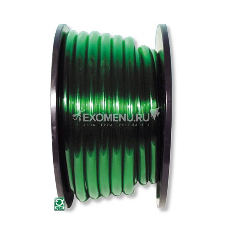 JBL Aquarium tubing GREEN 9/12 - Гибкий шланг для воды, прозрачный зеленый, на катушке (60 м), цена за м