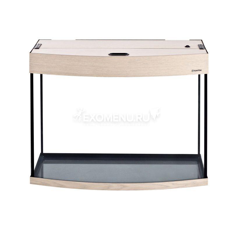 Аквариум AquaPlus 105 (700х350х560-6) фигурный со светильником LUX 2х18Вт. выбеленный дуб