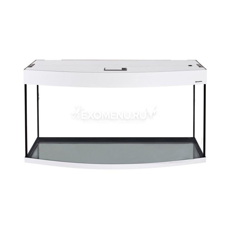 Аквариум AquaPlus 170 (1000х400х560-6/8) фигурный со светильником LUX 2х30Вт. белое дерево