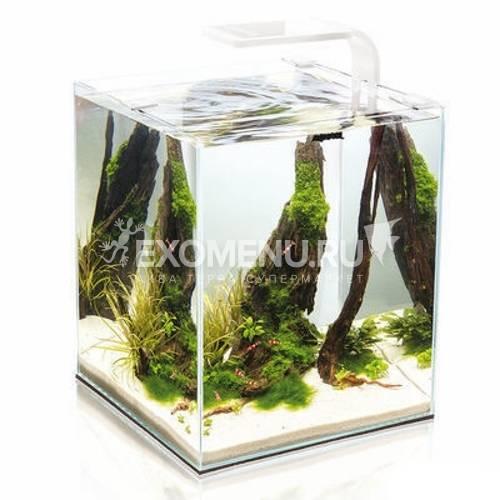 Креветкарий SHRIMP SET SMART PLANT || 30 белый, (30х30х35) укомплектован светодиодным светильником,фильтром, обогревателем