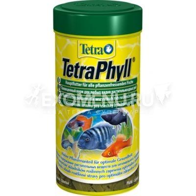 Корм для травоядных рыб Tetra Phyll (250 мл.), хлопья фото