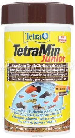 Корм основной для всех видов рыб Tetra Min Mini Junior мелкие хлопья фото