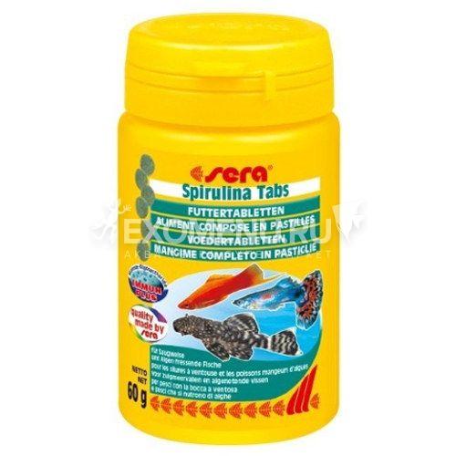 Корм для рыб SPIRULINA TABS 100 мл (60 г) (100 таб).