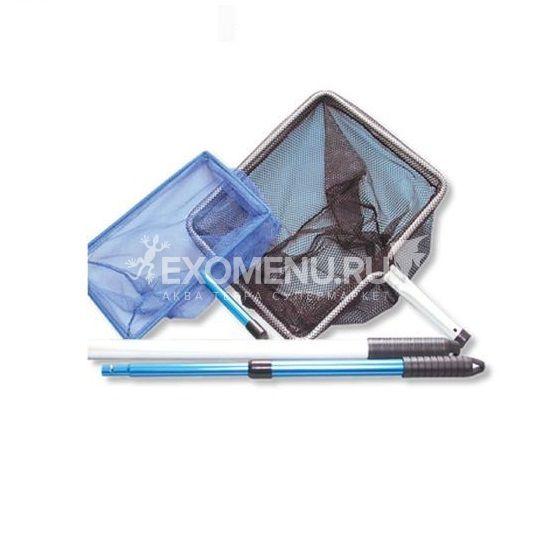 JBL Pond fish net short - Прудовый сачок с телескопической ручкой 90 см, мелкая белая сетка