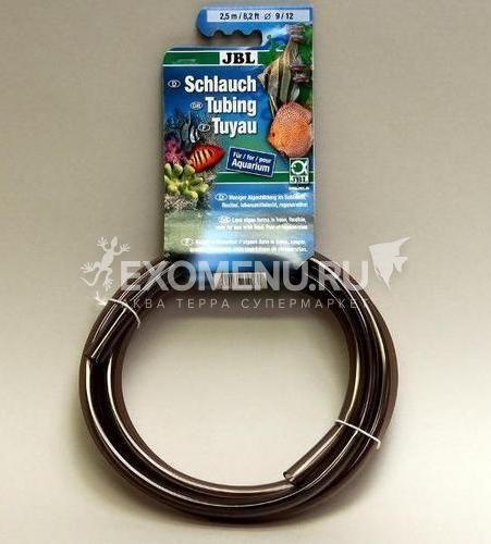 JBL Aquarium tubing GREY 9/12 - Гибкий шланг для воды, прозрачный серый, 2,5 м, на подвесе