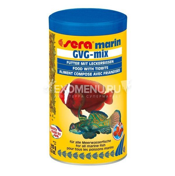 Sera Корм для морских рыб GVG-Mix Marin 1000 мл.