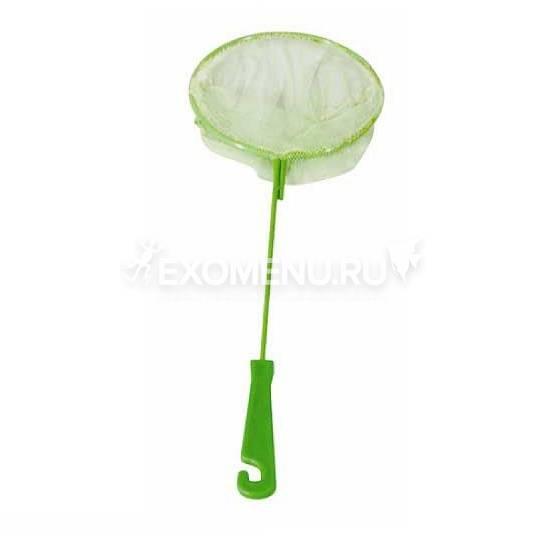 Сачок аквариумный, круглый, D 90 (металл), пластиковая ручка