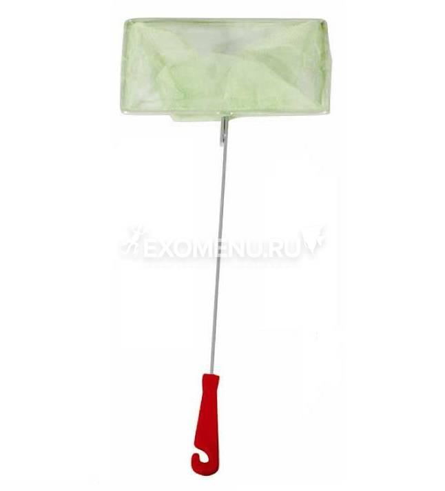 Сачок аквариумный 13/16 см (металл), пластиковая ручка