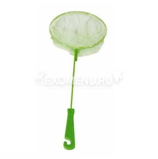 Сачок аквариумный круглый 18/23 см (металл) пластиковая ручка