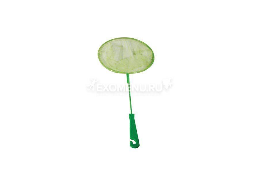 Сачок аквариумный круглый 16/20 см (металл) пластиковая ручка