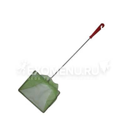 Сачок аквариумный 10/12 см (металл), пластиковая ручка