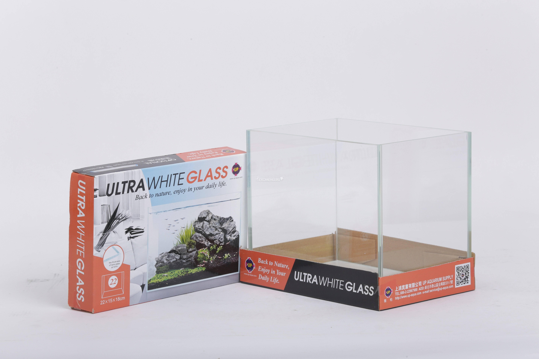UpAqua Crystal Glass Tank S Аквариум Ultra White, малый 6 л